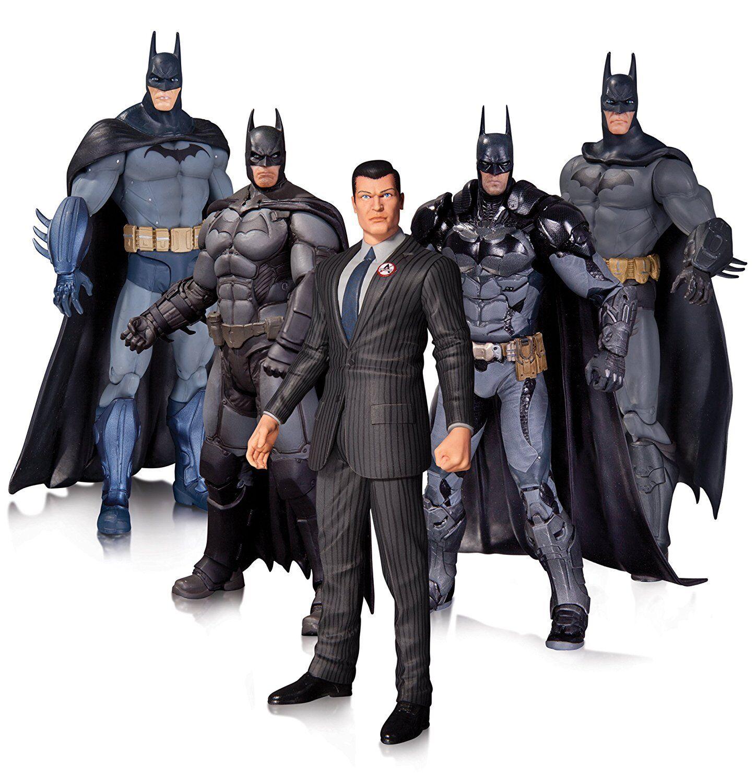Batman - 7  arkhan batman action figure set (5) von dc comics   neue