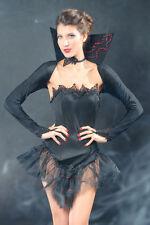 Sexy Women's Black Vampire Queen Halloween Fancy Dress Costume Party
