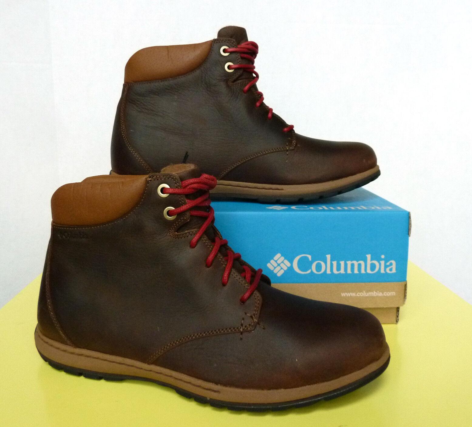 Nuevo Hombre Columbia Davenport XTM Botas Impermeable De Cuero Impermeable Botas MSRP 130 42eac5