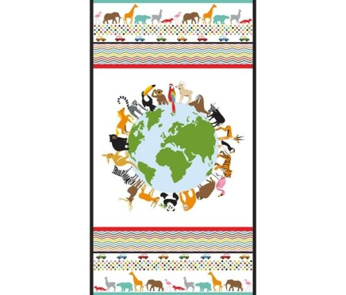 Studio E 100/% cotton LITTLE EXPLORERS WORLD Fabric Panel