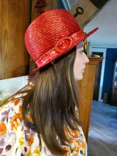 Vintage Mr. Frank red Straw Hat