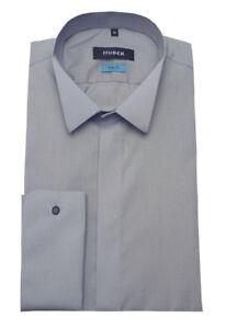 Huber-esmoquin-camisa-gris-klappchen-cuello-de-produccion-en-Europa-hu-0354-slim-fit