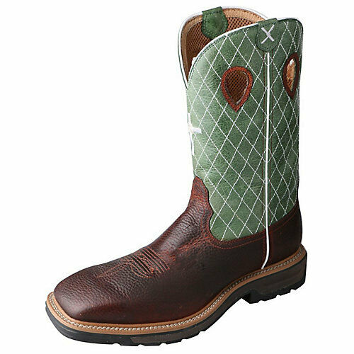 Twisted X Mens Lite Cowboy Pebble Work Boot