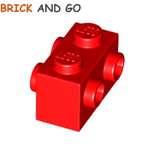 rot rot 52107-4569056 Lego 4 Zapfen Ziegel 4 Knöpfe 1x2 neu NEW Lego x 4
