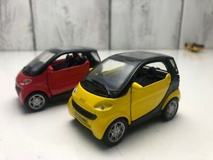 Lot-2-Maisto-1-33-Scale-Smart-Model-Mini-Car-Collection-Extra-Parts-Diecast