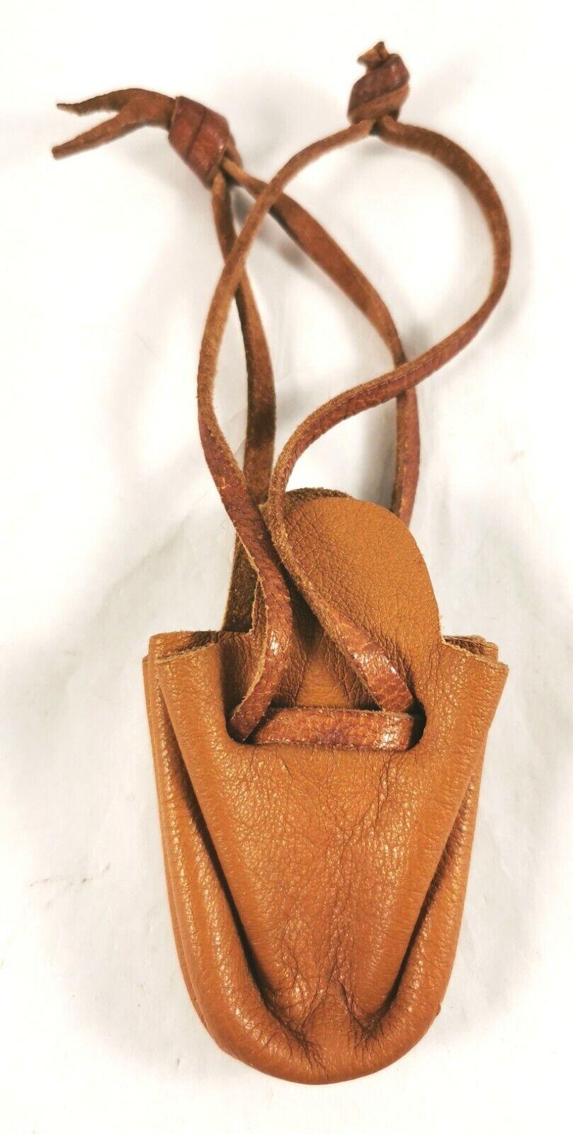 Leather Purse Case Coin Key Holder Mini Handmade Pocket Wallet Art