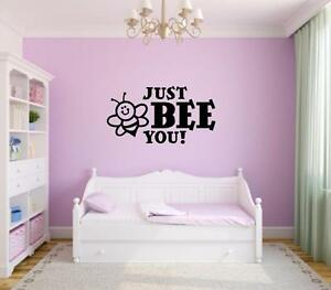 Image Is Loading Just Bee You Vinyl Decal Wall Sticker Words
