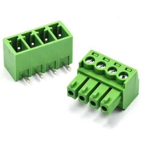 Right Angle 2Pin-12Pin 3.81mm KF2EDG Terminal Block Screw Connectors Male/&Female