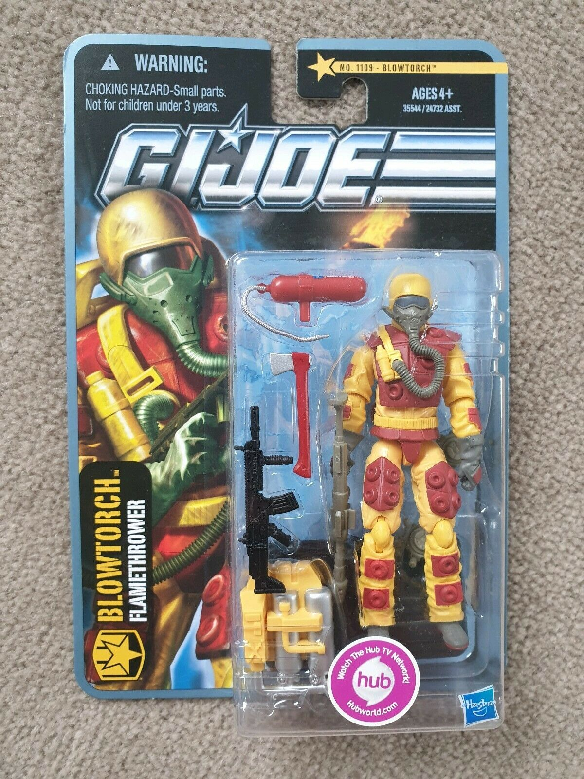 GI Joe pursuit of cobra POC blowtorch flamethrower blow torch