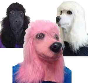 CHIEN-CANICHE-masques-latex-chien-par-la-tete-qualite-Cine-Animal-deguisement