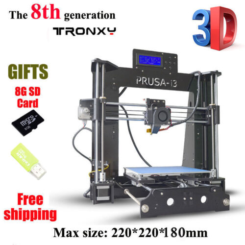2018 Upgraded Full Quality High Precision Reprap Prusa i3 DIY 3d Printer PLA//ABS