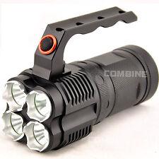 NUOVO 7000 LUMEN 4x CREE XM-L L2 LED Lampada Torcia da maniglia Torcia Elettrica Luce 4x 18650