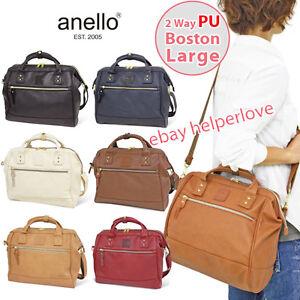Waterproof Messenger Bag >> Japan Anello Original LARGE 2 Way Shoulder Handbag PU Faux LEATHER Bag Unisex   eBay