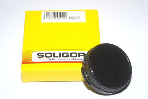 Soligor Giappone obiettivamente rückdeckel//Rear Lens Cap Canon FD seguito Nuovo//Scatola Originale