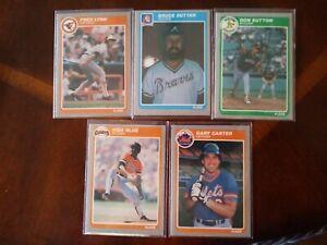 1985-Fleer-update-stars-lot-5-cards-3-HOF