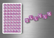 60x adesivi adesivo sticker alfabeto scrapbooking diy lettere auto moto r4 nomi