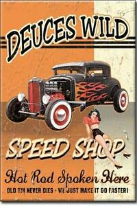 Wild Deuce Speed Shop USA Retro Hotrod Magnet