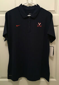 NWT-Virginia-UVA-Cavaliers-Women-039-s-Rowing-Team-Issued-Nike-Blue-Polo-Shirt-2XL