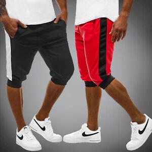 6c3a2fc6663aa6 Das Bild wird geladen Kurzhose-Sporthose-Jogging-Fitness-Sommer-Sportshorts- Herren-OZONEE-