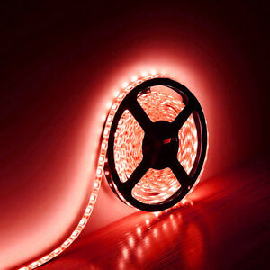 5M 16.4Ft 5050 SMD Flexible Waterproof 300 LED Strip Light RED DC12V