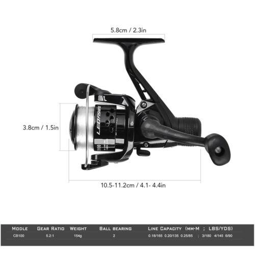 Full Fishing Rod Reel Combo 1.5m Telescopic Fish Pole Spinning Reel Tackle Set