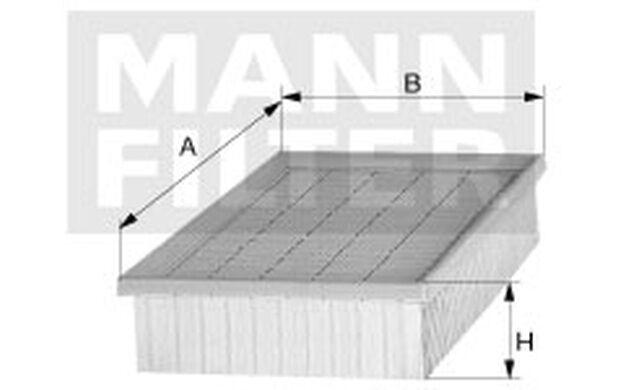 MANN-FILTER Filtro de aire MERCEDES-BENZ CLASE C C 52 107