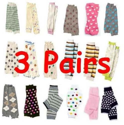 Leg Warmers Baby Leggings Toddler Prepacked assorted  Lot of 3 Pairs Socks NEW