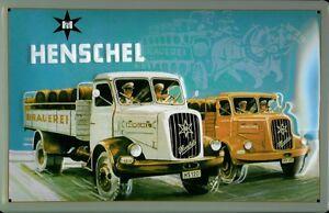 Henschel-HS-120-Blechschild-Schild-3D-gepraegt-gewoelbt-Metal-Tin-Sign-20-x-30-cm