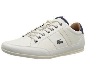 ddc3b1384f591 Lacoste Mens Shoes Chaymon 118 2 Off White Leather Casual Fashion ...