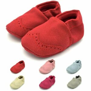 21f5549fa7fa Baby Boys Girls Crib Shoes Toddler Soft Sole Nubuck Leather Sneakers ...