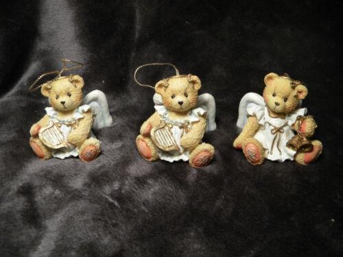 Set of 3 Hillman ANGEL Teddy BEAR Holiday CHRISTMAS Ornaments 1993 Hamilton Gift