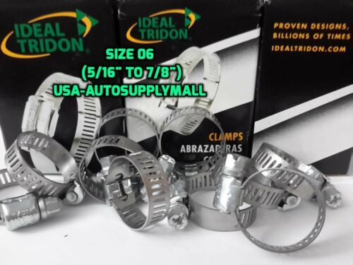 Ideal Tridon 20 Pcs Hose Clamps Size 6 Abrazaderas 08 to22mm