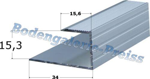 15,3mm •90cm-170cm 7,72-9,06€//m •Abschlussprofil •Einschubprofil •4Farben