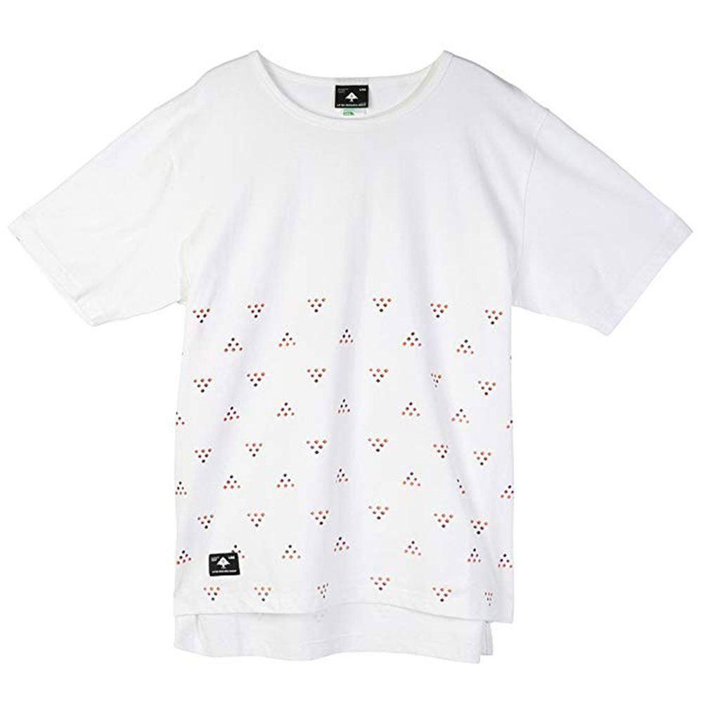 LRG Half Ditzy Knit Drop Tail T-shirt Weiß