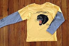 NEW Ed Hardy Kids Yellow Panther Shirt Top Boys Size 5 6