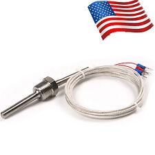 "RTD Pt100 1/2"" ThreadProbe Sensors Stainless Steel High Temperature Thermocouple"