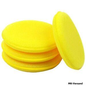 5x-Gelb-Auto-Polierwachs-Applikator-Belaege-Gross-5-034-Weiche-Schaum-Schwamm-Belag