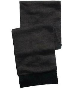 Alfani Mens Scarf Blue Charcoal Gray One Size Reversible Ribbed Knit $40 162