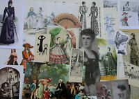 job lot of ephemera, c. 25 pieces, Subject: FASHION