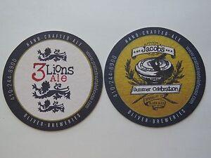 Bière Dessous De Verre  Pratt Street Ale Maison & Oliver Brasseries 3 Lions ~ Kcrosde3-07231232-198910185