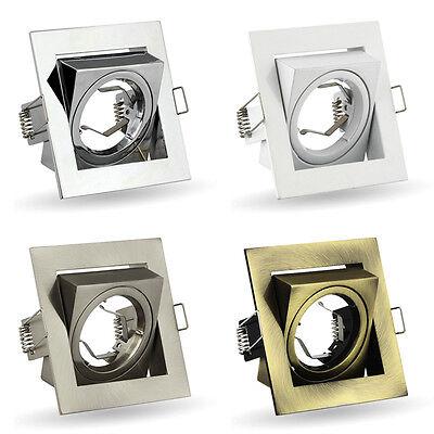 Gewijd Set Of 10 Tilted Downlight Recessed Spotlight Fixtures Gu10 Socket 230v K-23 Om Een Ongewoon Uiterlijk Zeker Te Stellen
