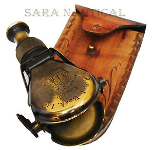 Old-Antique-Brass-Monocular-Binocular-Telescope-Vintage-Nautical-Spyglass