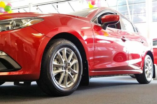 Rally Armor Mud Flaps For 2014-2016 Mazda 3 Mazda3 Sedan /& Hatchback w Gray Logo