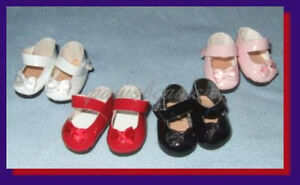 """WHITE Patent Mary Jane Doll SHOES for Eden 8/"""" MADELINE /& Friends"""