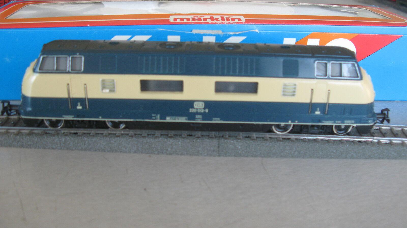 Märklin 3081 diesel locomotora br 220 012-9 con OVP de colección de resolución