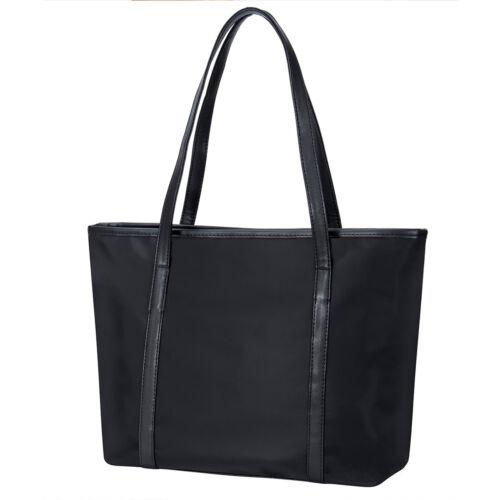 Black Large Women/'s Oxford Nylon 14/'/'Laptop Work Handbag Travel Shoulder Bag