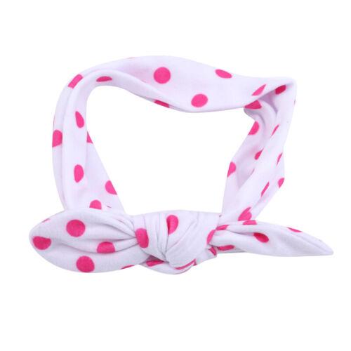 Baby Girls Newborn Infant Rabbit Bow Headband Hairband Headwear Turban Knot BB