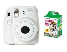 SPECIAL BUNDLE Fujifilm Instax Mini 8 White Instant Camera inc TWIN PACK 20 SHOT