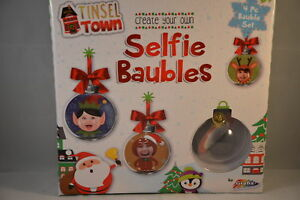 Christbaumkugeln Rosegold.Details Zu New 4 Create Your Own Selfie Baubles Tinsel Town Grafix 6 Bauble Set