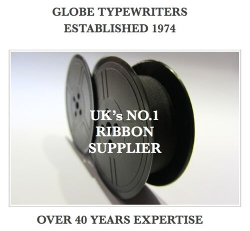 1 x /'UNDERWOOD 2/' *BLACK* TOP QUALITY *10M* TYPEWRITER RIBBON TWIN SPOOL *R//W*